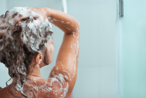 shower before entering